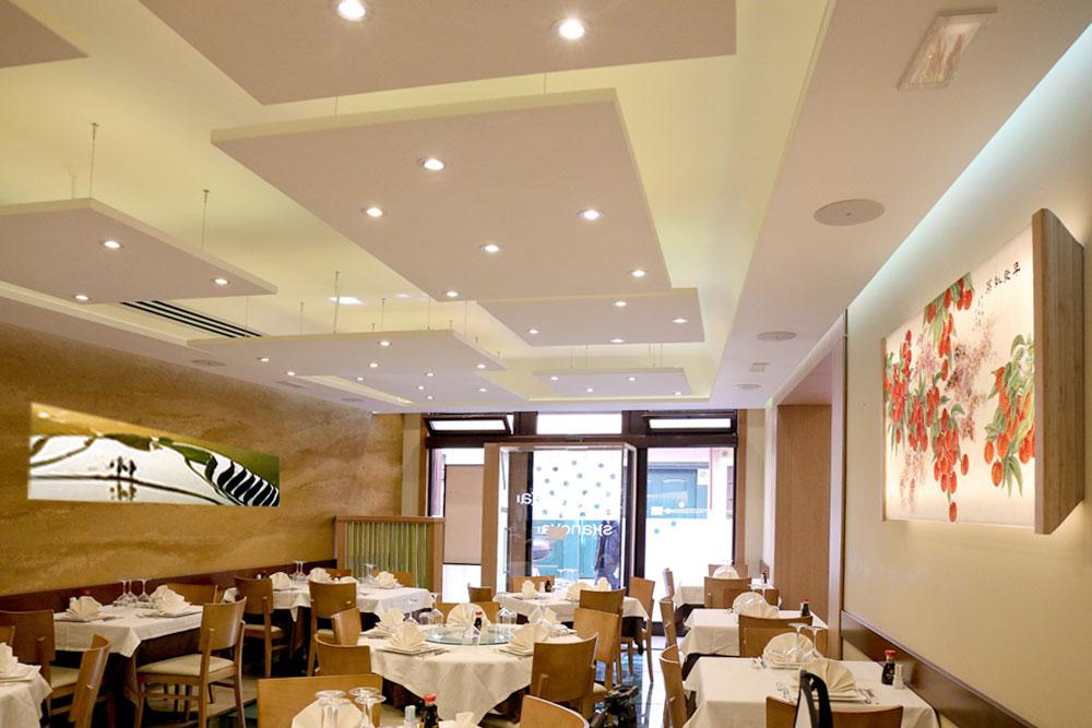 Interno ristorante shanghai sala di ingresso